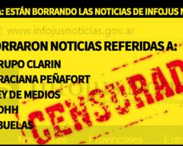 Censura y proscripción en InfoJus: borraron noticias referidas a Clarín, Abuelas y Ley de Medios