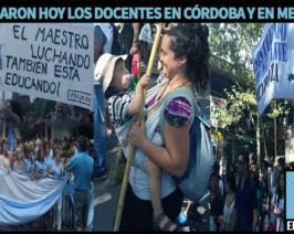 Miles de docentes marcharon en todo el país