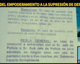 En Jujuy la policía exige vestimenta formal para atender