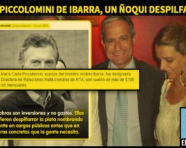 La militancia de las sábanas y un nuevo ñoqui PRO, la mujer del Ministro Ibarra a RTA