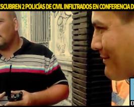 Encontraron policías infiltrados en la conferencia de prensa docente
