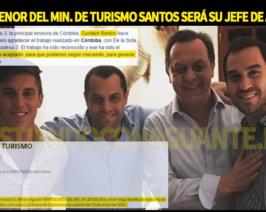 Un ñoqui con olor a fernet: El hijo del Ministro Santos es su nuevo Jefe de Asesores