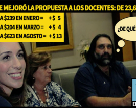 Vidal continúa tomándole el pelo a los docentes: de 23,6% ahora ofrece 24,1%