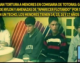 """Denuncian tortura a menores en comisaria de Totoras: golpes, bolsas de nylon y amenazas de """"aparecer flotando"""" por sacarse fotos en un techo (Video)"""