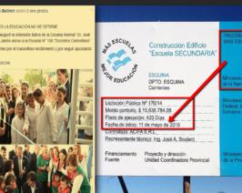 Bullrich sigue colgándose de la Pesada Herencia: inauguró otra obra de CFK