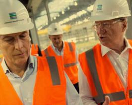 Macri inauguró hoy la planta de Techint en USA que generó 1500 puestos de trabajo para estadounidenses