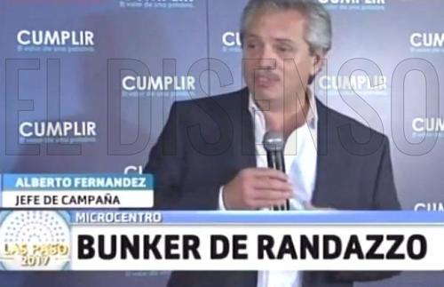 Alberto Fernandez, Jefe de Campaña de Randazzo en 2017 - El Disenso