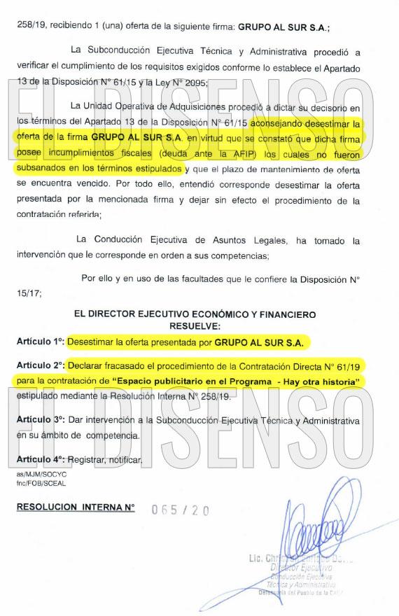 Albistur comercializaba espacios publicitarios en el programa de TV de Rosario Lufrano - El Disenso