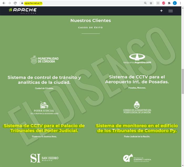 Apache Solutions SAS, monitorea Comodoro Py - El Disenso