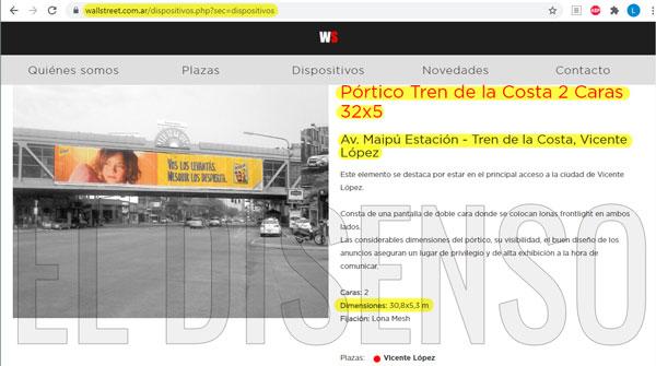 Espacio Publicitado adjudicado por el gobierno a la empresa de Albistur - El Disenso