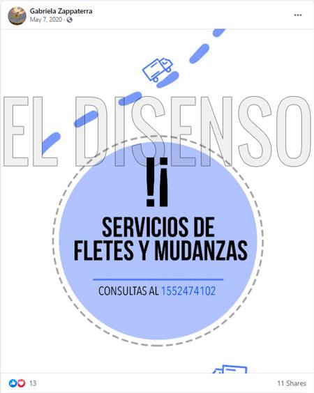 Servicios de Fletes y Mudanzas Santoro - El Disenso