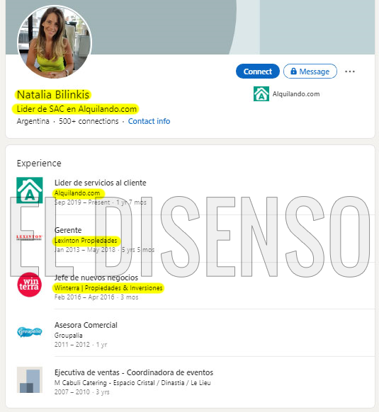 CV Natalia Bilinkis - El Disenso