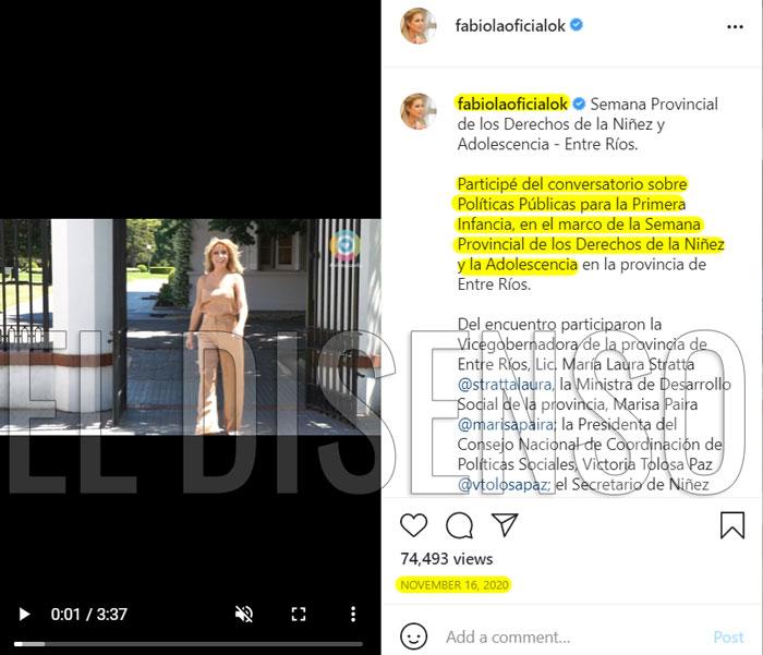 Instagram Primera Dama - El Disenso