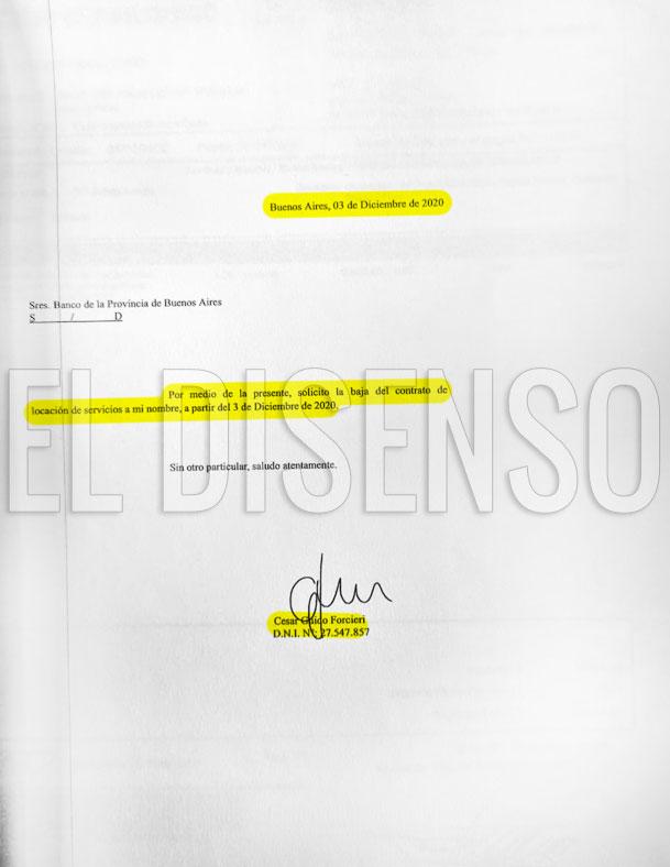 Renuncia de Forcieri a su contrato en el Bapro - El Disenso