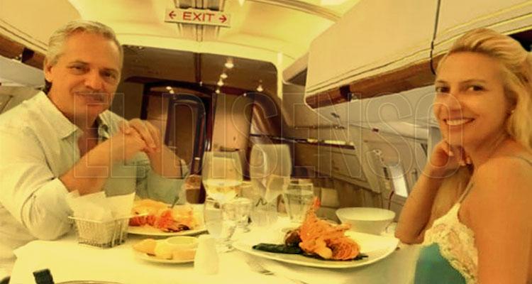 2.5 millones en catering para los vuelos oficiales de Alberto - El Disenso